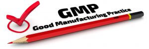 GMP. Good Manufacturing Practice. The Mark